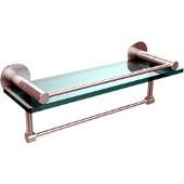 Fresno Collection 16'' Shelf w/Gallery Rail and Towel Bar, Premium Finish, Satin Chrome