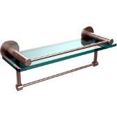 Fresno Collection 16'' Shelf w/Gallery Rail and Towel Bar, Premium Finish, Satin Nickel