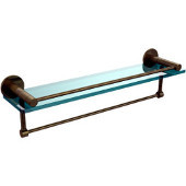 Fresno Collection 22'' Shelf w/Gallery Rail and Towel Bar, Premium Finish, Antique Brass