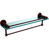 Fresno Collection 22'' Shelf w/Gallery Rail and Towel Bar, Premium Finish, Rustic Bronze