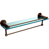 Fresno Collection 22'' Shelf w/Gallery Rail and Towel Bar, Premium Finish, Brushed Bronze