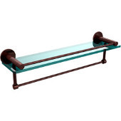 Fresno Collection 22'' Shelf w/Gallery Rail and Towel Bar, Premium Finish, Antique Copper