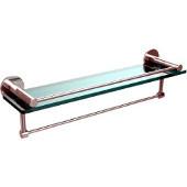 Fresno Collection 22'' Shelf w/Gallery Rail and Towel Bar, Standard Finish, Polished Chrome