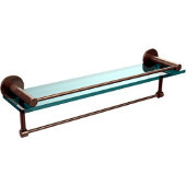 Fresno Collection 22'' Shelf w/Gallery Rail and Towel Bar, Premium Finish, Antique Pewter