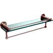 Fresno Collection 22'' Shelf w/Gallery Rail and Towel Bar, Premium Finish, Polished Nickel
