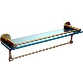 Fresno Collection 22'' Shelf w/Gallery Rail and Towel Bar, Premium Finish, Satin Brass