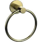 Fresno Collection Towel Ring, Premium Finish, Satin Brass