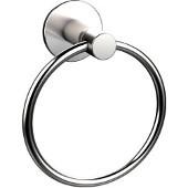 Fresno Collection Towel Ring, Premium Finish, Satin Chrome