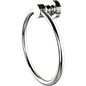 Foxtrot Collection Towel Ring, Standard Finish, Polished Chrome