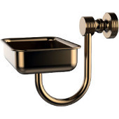 Foxtrot Collection Wall Mounted Soap Dish, Brushed Bronze