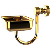 Foxtrot Collection Wall Mounted Soap Dish, Polished Brass
