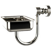 Foxtrot Collection Wall Mounted Soap Dish, Polished Nickel