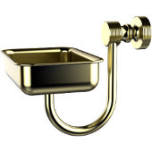 Foxtrot Collection Wall Mounted Soap Dish, Satin Brass