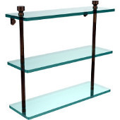 Foxtrot Collection 16'' Triple Glass Shelf, Premium Finish, Venetian Bronze