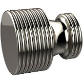 G-1 Series Foxtrot Collection 1'' Diameter Round Grooved Cabinet Knob in Polished Nickel (Premium Finish), Available in Multiple Finishes