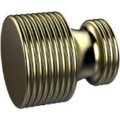 G-1 Series Foxtrot Collection 1'' Diameter Round Grooved Cabinet Knob in Satin Brass (Premium Finish), Available in Multiple Finishes
