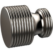 G-1 Series Foxtrot Collection 1'' Diameter Round Grooved Cabinet Knob in Satin Nickel (Premium Finish), Available in Multiple Finishes