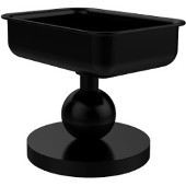 Vanity Top Soap Dish, Matte Black