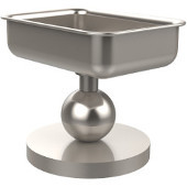 Vanity Top Collection Soap Dish, Premium Finish, Satin Nickel