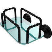 Que New Wall Mounted Guest Towel Holder, Matte Black