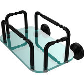 Waverly Place Wall Mounted Guest Towel Holder, Matte Black