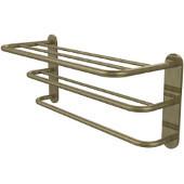 Hotel Collection 3-Tier Hotel Shelf w/Towel Rack, Premium Finish, Antique Brass