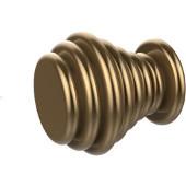 Designer Cabinet Knob, Waverly Place, 1'' dia., Premium Finish, Brushed Bronze