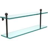 Mambo Collection 22'' Double Glass Shelf, Premium Finish, Oil Rubbed Bronze