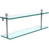 Mambo Collection 22'' Double Glass Shelf, Standard Finish, Polished Chrome