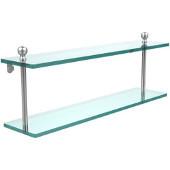 Mambo Collection 22'' Double Glass Shelf, Premium Finish, Satin Chrome