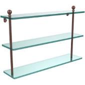 Mambo Collection 22'' Triple Glass Shelf, Premium Finish, Antique Copper