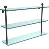 Mambo Collection 22'' Triple Glass Shelf, Premium Finish, Oil Rubbed Bronze