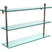 Mambo Collection 22'' Triple Glass Shelf, Premium Finish, Venetian Bronze