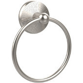 Monte Carlo Collection 6'' Towel Ring, Premium Finish, Satin Nickel