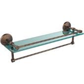 22 Inch Gallery Glass Shelf with Towel Bar, Venetian Bronze
