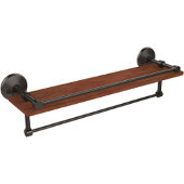 Monte Carlo Collection 22 Inch IPE Ironwood Shelf with Gallery Rail and Towel Bar, Oil Rubbed Bronze