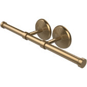 Monte Carlo Collection Double Roll Toilet Tissue Holder, Brushed Bronze