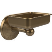 Monte Carlo Collection Soap Dish with Glass Liner, Premium Finish, Brushed Bronze