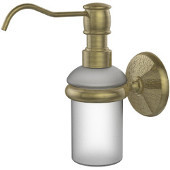 Monte Carlo Collection Wall Mounted Soap Dispenser, Premium Finish, Antique Brass