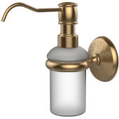 Monte Carlo Collection Wall Mounted Soap Dispenser, Premium Finish, Brushed Bronze