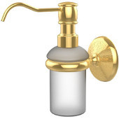 Monte Carlo Collection Wall Mounted Soap Dispenser, Unlacquered Brass