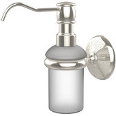 Monte Carlo Collection Wall Mounted Soap Dispenser, Premium Finish, Polished Nickel