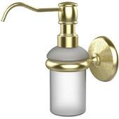 Monte Carlo Collection Wall Mounted Soap Dispenser, Premium Finish, Satin Brass