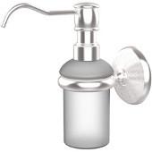 Monte Carlo Collection Wall Mounted Soap Dispenser, Premium Finish, Satin Chrome