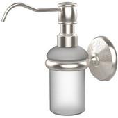 Monte Carlo Collection Wall Mounted Soap Dispenser, Premium Finish, Satin Nickel