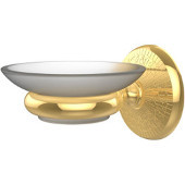 Monte Carlo Collection Wall Mounted Soap Dish, Unlacquered Brass