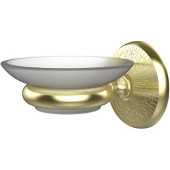 Monte Carlo Collection Wall Mounted Soap Dish Holder, Premium Finish, Satin Brass