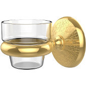Monte Carlo Collection Wall Mounted Votive Candle Holder, Standard Finish, Polished Brass