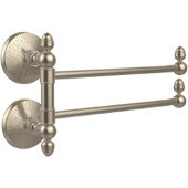 Monte Carlo Collection 2 Swing Arm Towel Rail, Antique Pewter