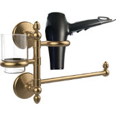 Monte Carlo Collection Hair Dryer Holder and Organizer, Brushed Bronze